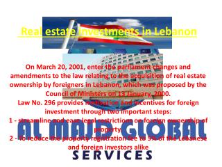 Real estate investments in Lebanon