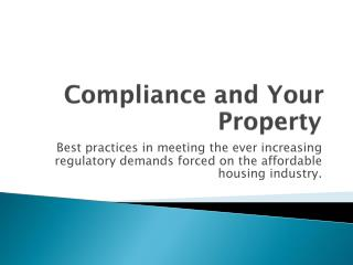 Compliance and Your Property