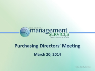 Purchasing Directors' Meeting March 20, 2014