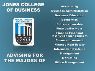 Jones college of business