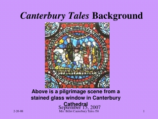 Canterbury Tales  Background