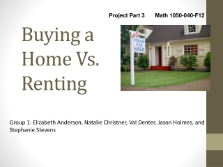 Buying a Home Vs. Renting