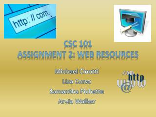 CSC 101 Assignment 2: Web Resources