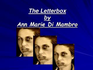 The Letterbox by  Ann Marie Di Mambro