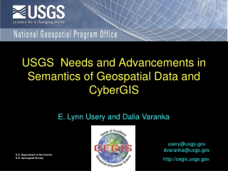 USGS  Needs and Advancements in Semantics of Geospatial Data and CyberGIS
