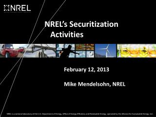 NREL's Securitization  Activities