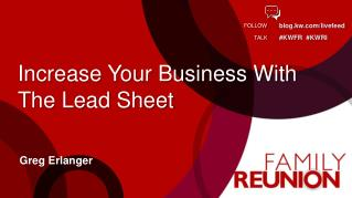 Increase Your Business With The Lead Sheet