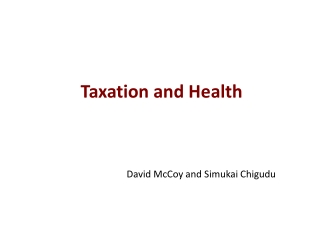 Taxation and Health