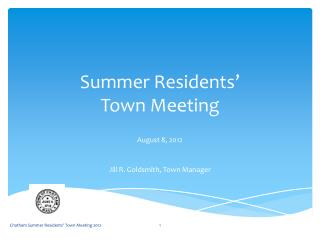 Summer Residents'  Town Meeting