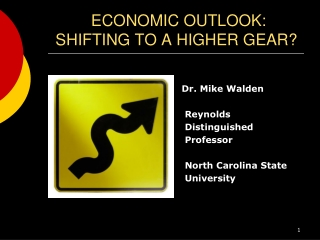 ECONOMIC OUTLOOK: SHIFTING TO A HIGHER GEAR?