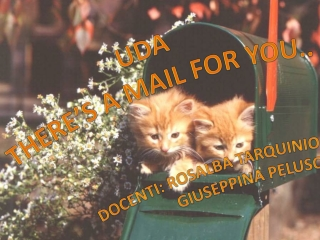 UDA There 's a mail for  you .. Docenti : Rosalba Tarquinio Giuseppina  Peluso