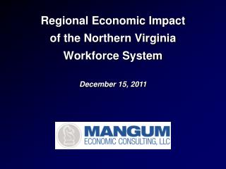 Regional Economic Impact of the Northern Virginia Workforce System