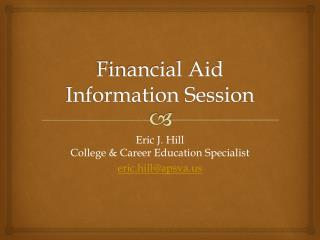 Financial Aid Information Session