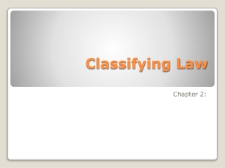 Classifying Law