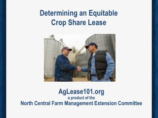 Determining an Equitable Crop Share Lease