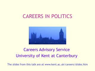 CAREERS IN POLITICS