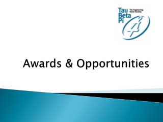 Awards  &  Opportunities