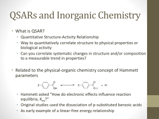 QSARs and Inorganic Chemistry