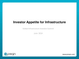 Investor Appetite for Infrastructure