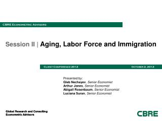 Session II |  Aging, Labor Force and Immigration