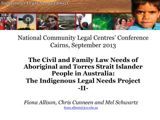 National Community Legal  Centres'  Conference Cairns, September 2013