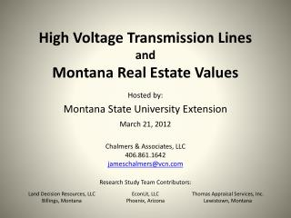 High Voltage Transmission Lines and Montana Real Estate Values