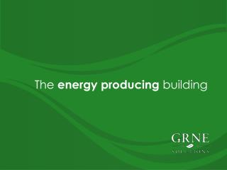 The  energy producing  building