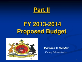 Part II  FY 2013-2014 Proposed Budget