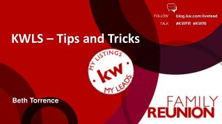 KWLS – Tips and Tricks