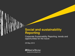 Social and sustainability Reporting