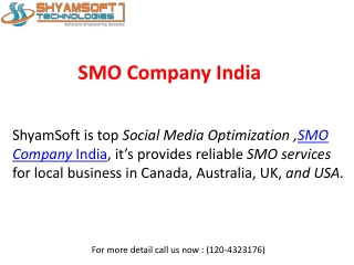 Reliable SMO Services in India with Affordable Price
