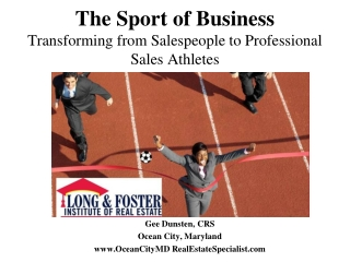 The Sport of Business Transforming from Salespeople to Professional Sales Athletes