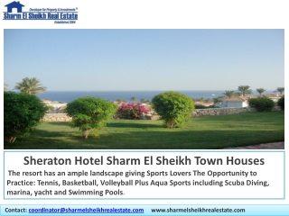 Contact:  coordinator@sharmelsheikhrealestate.com      www.sharmelsheikhrealestate.com