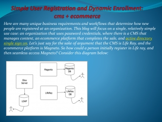 Simple User Registration and Dynamic Enrollment : cms   ecom