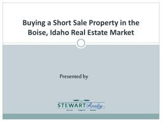 Buying a Short  Sale  Property in  the  Boise,  Idaho Real Estate Market
