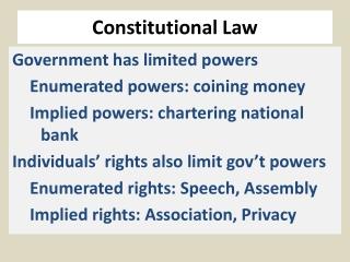 Constitutional Law