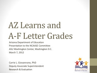 AZ Learns and  A-F Letter Grades