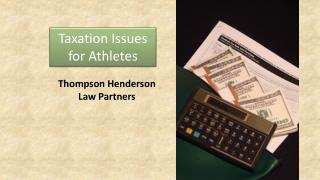Taxation Issues for Athletes