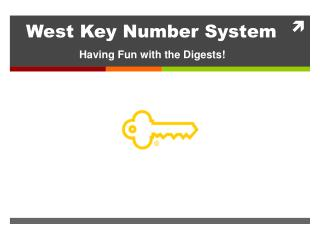 West Key Number System