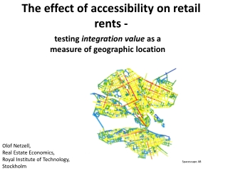 The effect of accessibility on retail  rents -