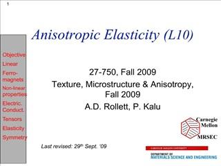 anisotropic elasticity l10