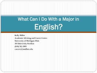 What Can I Do With a Major in  English?