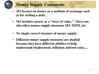 Money Supply Comments