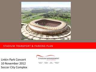 Stadium transport & parking plan