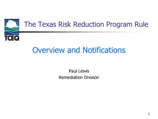 The Texas Risk Reduction Program Rule