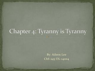 howard zinn chapter for tyranny