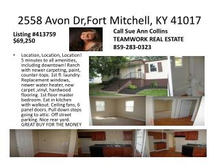2558 Avon Dr,Fort Mitchell, KY 41017