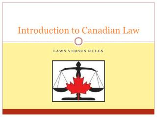 Introduction to Canadian Law