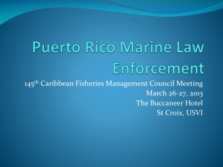 Puerto Rico Marine Law Enforcement