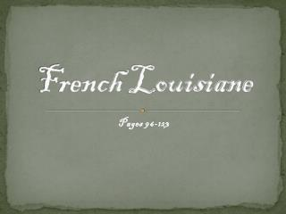 French  Louisiane